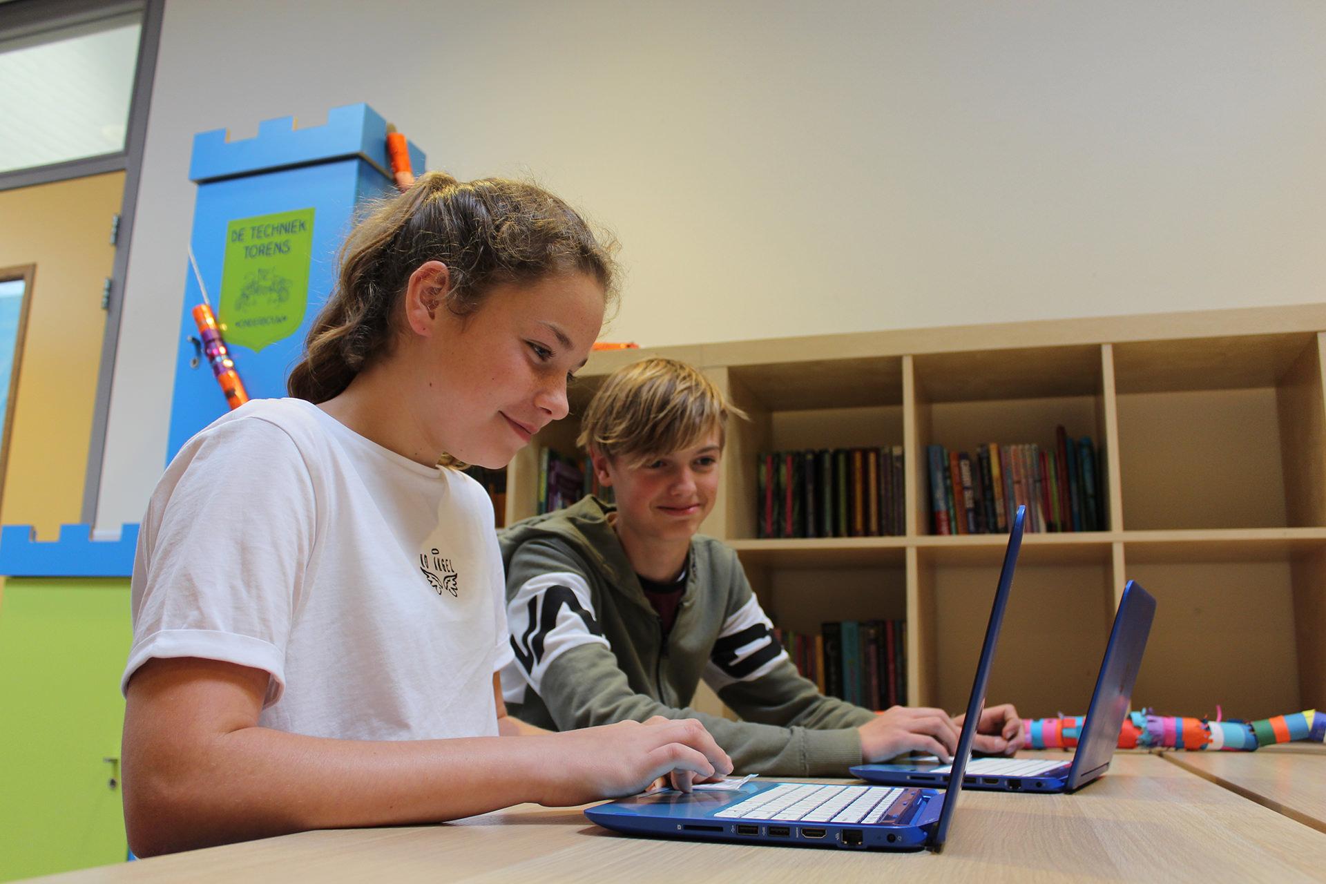 Basisschool de Wingerd - werken met de laptop